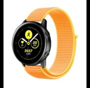 Strap-it® Samsung Galaxy Watch Active nylon band (lichtgeel)