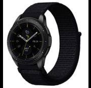 Samsung Galaxy Watch 41mm / 42mm nylon band (zwart)
