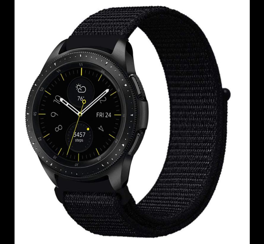 Strap-it® Samsung Galaxy Watch 41mm / 42mm nylon band (zwart)
