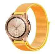 Strap-it® Samsung Galaxy Watch 41mm / 42mm nylon band (lichtgeel)