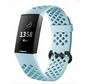 Strap-it® Fitbit Charge 4 siliconen bandje met gaatjes (mint)