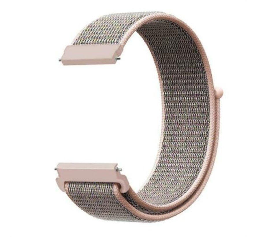 Strap-it® Samsung Galaxy Watch 45mm / 46mm nylon band (pink sand)