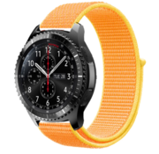 Samsung Galaxy Watch 45mm / 46mm nylon band (lichtgeel)