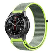 Samsung Galaxy Watch 45mm / 46mm nylon band (fluoriserend)