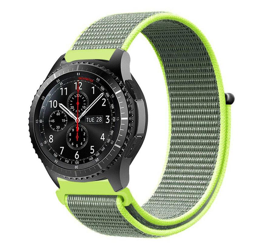 Strap-it® Samsung Galaxy Watch 45mm / 46mm nylon band (fluoriserend)