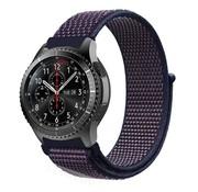 Samsung Galaxy Watch 45mm / 46mm nylon band (paars-blauw)