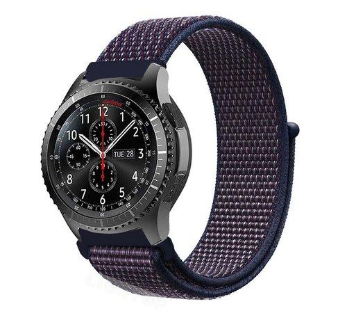 Strap-it® Strap-it® Samsung Galaxy Watch 45mm / 46mm nylon band (paars-blauw)