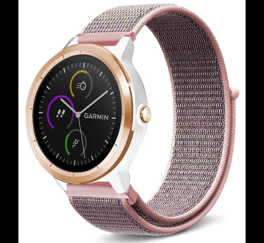 Strap-it® Garmin Vivoactive 3 nylon band (pink sand)
