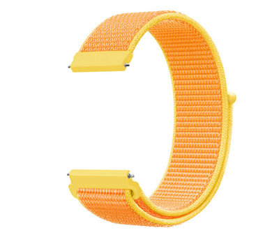 Strap-it® Strap-it® Garmin Vivoactive 3 nylon band (lichtgeel)