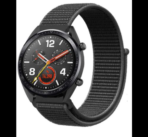 Strap-it® Strap-it® Huawei Watch GT nylon band (zwart)