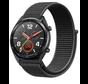 Strap-it® Huawei Watch GT nylon band (zwart)