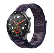 Strap-it® Huawei Watch GT nylon band (paars-blauw)