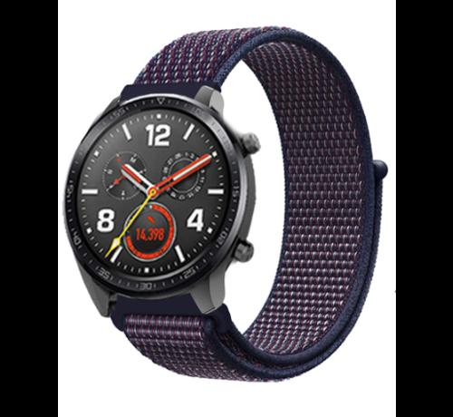 Strap-it® Strap-it® Huawei Watch GT nylon band (paars-blauw)
