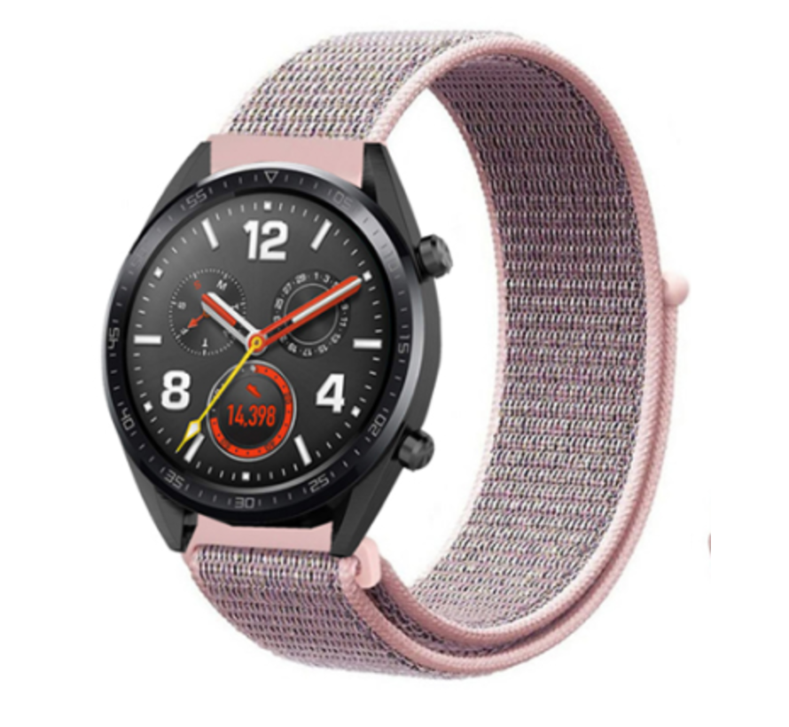 Strap-it® Huawei Watch GT nylon band (pink sand)