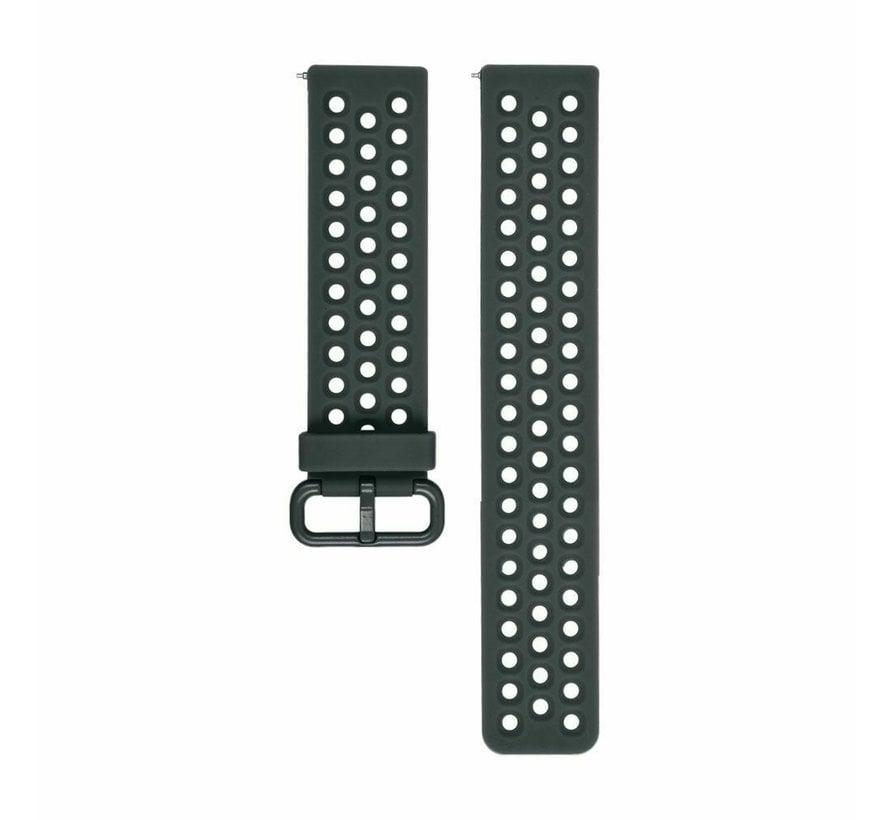 Strap-it® Fitbit Versa siliconen bandje met gaatjes (grijsblauw)