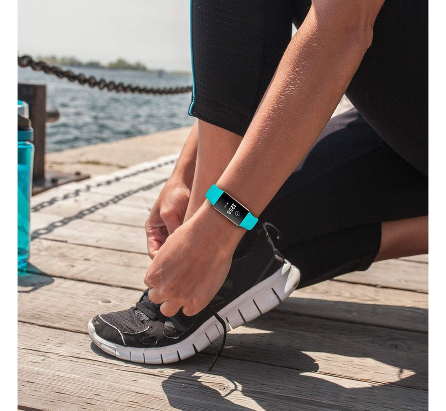 Strap-it® Fitbit Charge 3 sport bandje (aqua)