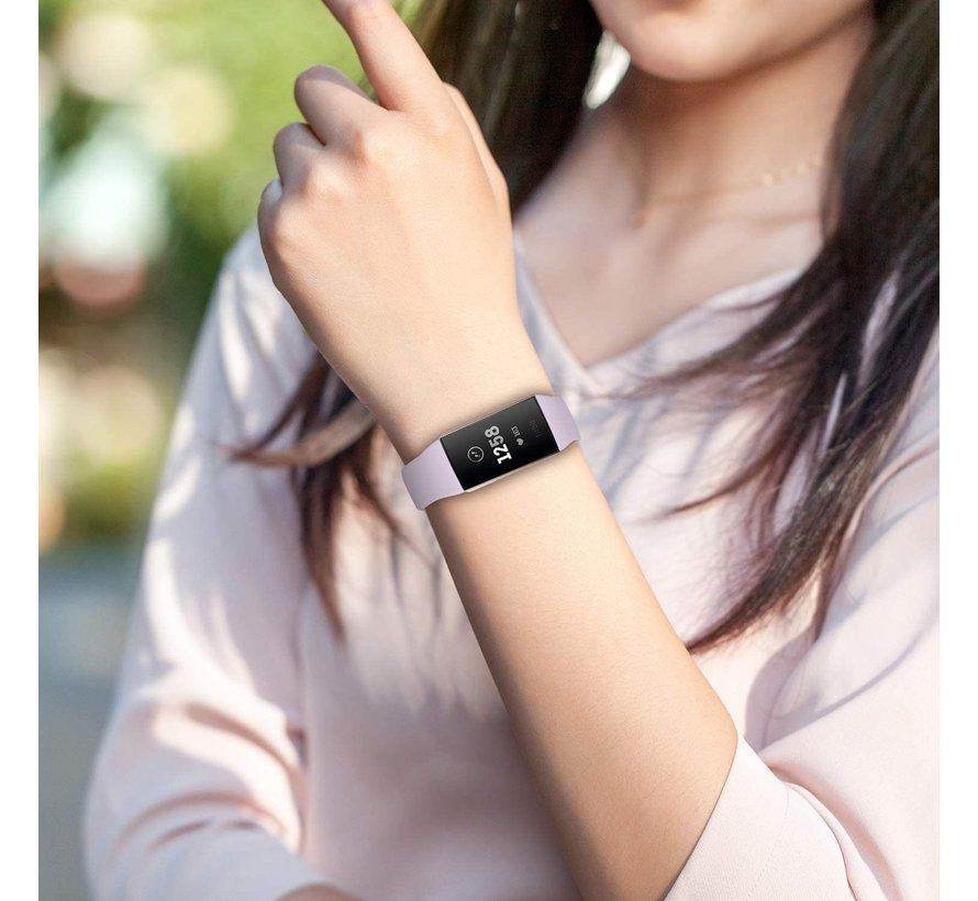 Strap-it® Fitbit Charge 3 sport bandje (lavendel)