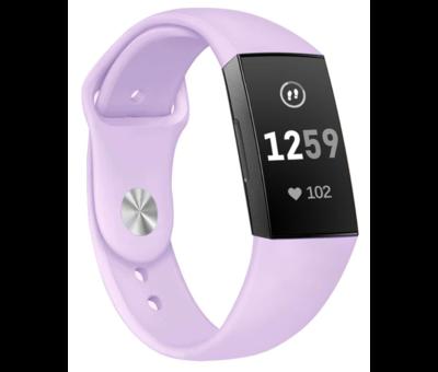 Strap-it® Strap-it® Fitbit Charge 3 sport bandje (lavendel)