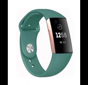 Strap-it® Fitbit Charge 3 sport bandje (dennengroen)