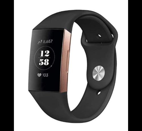 Strap-it® Strap-it® Fitbit Charge 4 sportband (zwart)