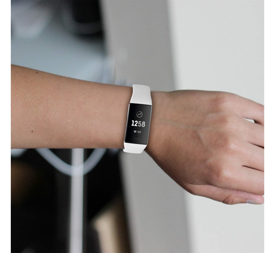 Strap-it® Fitbit Charge 4 sportband (wit)
