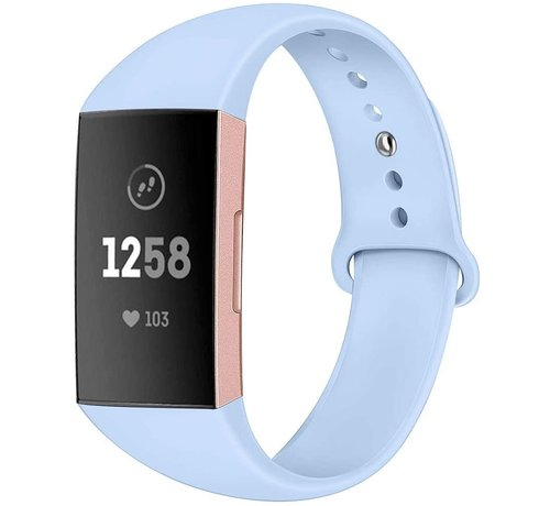 Strap-it® Strap-it® Fitbit Charge 4 sportband (lichtblauw)