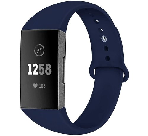 Strap-it® Strap-it® Fitbit Charge 4 sportband (donkerblauw)