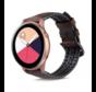 Samsung Galaxy Watch Active siliconen / leren bandje (bruin)