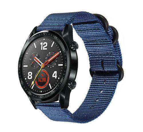 Huawei Watch GT nylon gesp band (blauw)