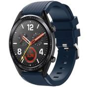 Strap-it® Huawei Watch GT siliconen bandje (donkerblauw)