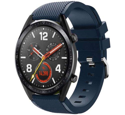 Strap-it® Strap-it® Huawei Watch GT siliconen bandje (donkerblauw)