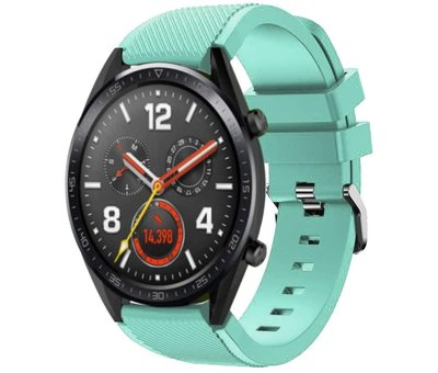 Strap-it® Strap-it® Huawei Watch GT siliconen bandje (aqua)
