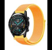 Strap-it® Huawei Watch GT nylon band (lichtgeel)