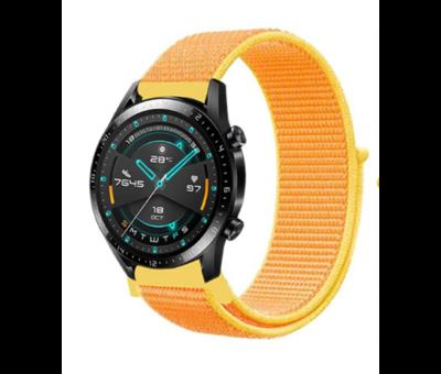 Strap-it® Strap-it® Huawei Watch GT nylon band (lichtgeel)