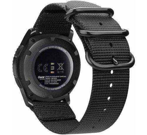 Strap-it® Strap-it® Samsung Galaxy Watch Active nylon gesp band (zwart)
