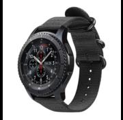 Samsung Galaxy Watch 45mm / 46mm nylon gesp band (zwart)
