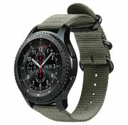 Strap-it® Samsung Galaxy Watch 45mm / 46mm nylon gesp band (groen)