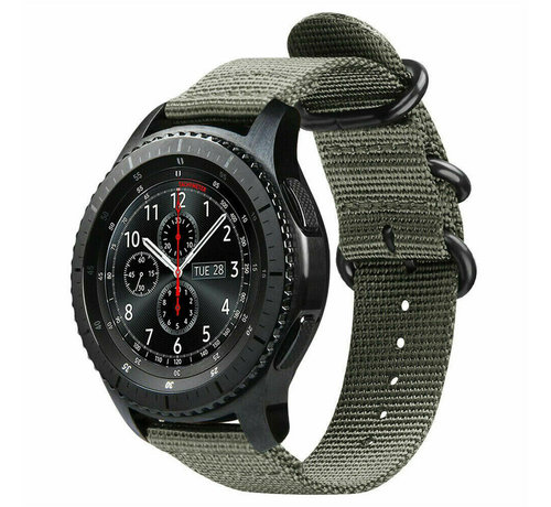 Strap-it® Strap-it® Samsung Galaxy Watch 45mm / 46mm nylon gesp band (groen