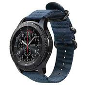 Samsung Galaxy Watch 45mm / 46mm nylon gesp band (blauw)