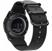 Samsung Galaxy Watch 41mm / 42mm nylon gesp band (zwart)