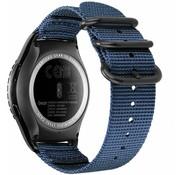 Samsung Galaxy Watch 41mm / 42mm nylon gesp band (blauw)