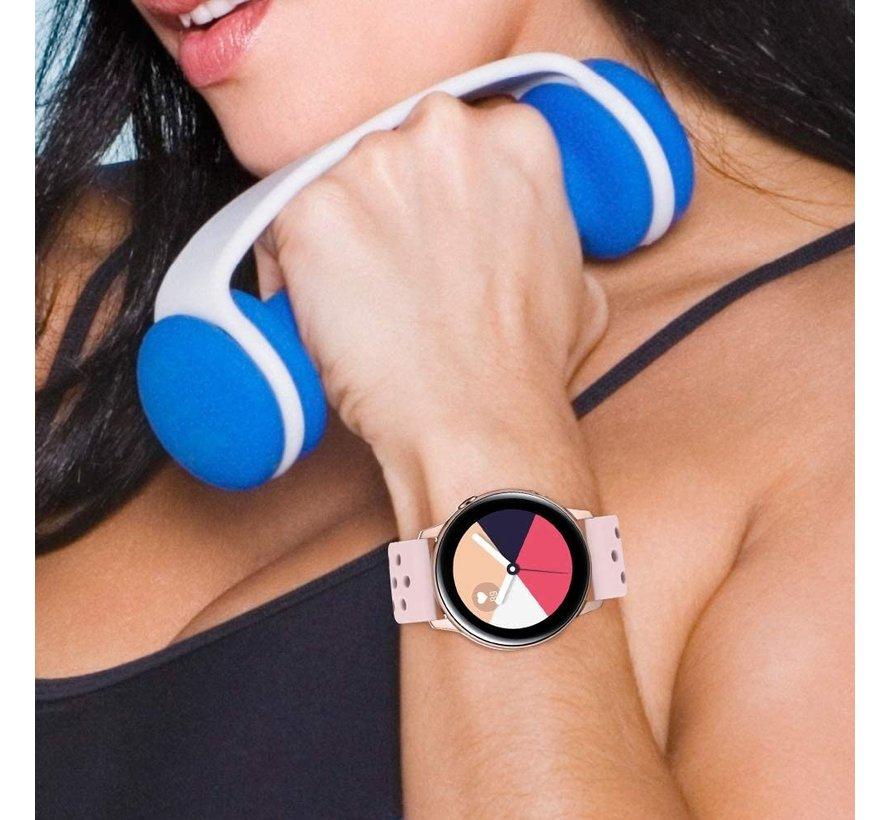 Strap-it® Samsung Galaxy Watch Active siliconen bandje met gaatjes (roze)
