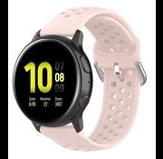 Strap-it® Samsung Galaxy Watch 41mm / 42mm siliconen bandje met gaatjes (roze)