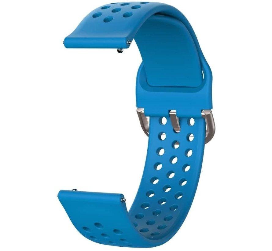 Strap-it® Garmin Vivoactive 3 siliconen bandje met gaatjes (blauw)