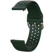 Strap-it® Garmin Vivoactive 3 siliconen bandje met gaatjes (legergroen)