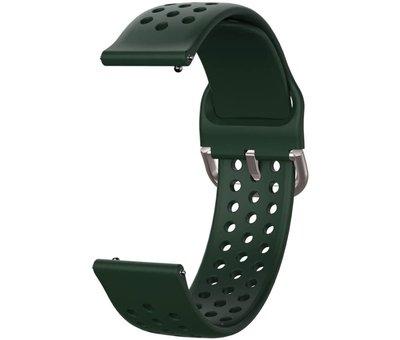 Strap-it® Strap-it® Garmin Vivoactive 3 siliconen bandje met gaatjes (legergroen)