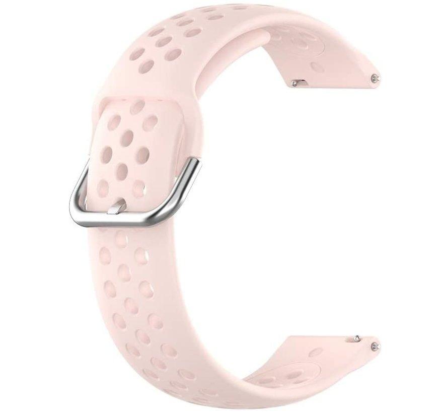Strap-it® Garmin Vivoactive 3 siliconen bandje met gaatjes (roze)
