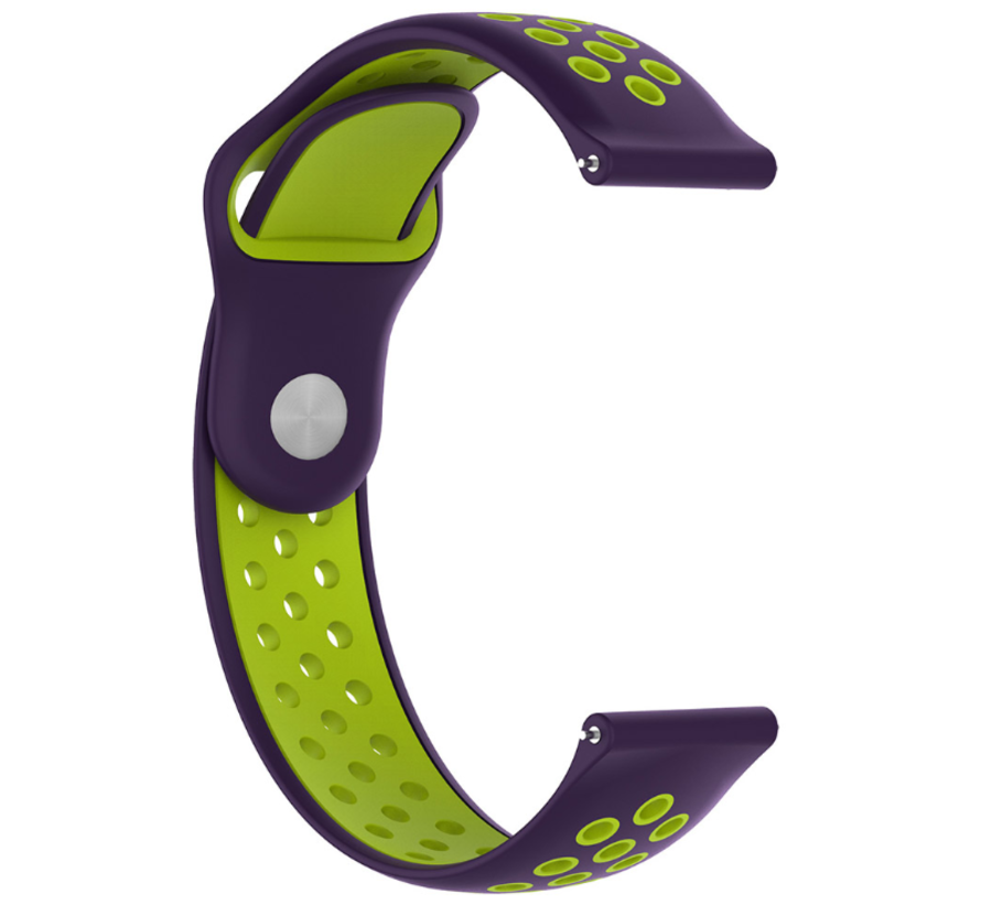 Strap-it® Garmin Vivoactive 3 sport band (paars geel)