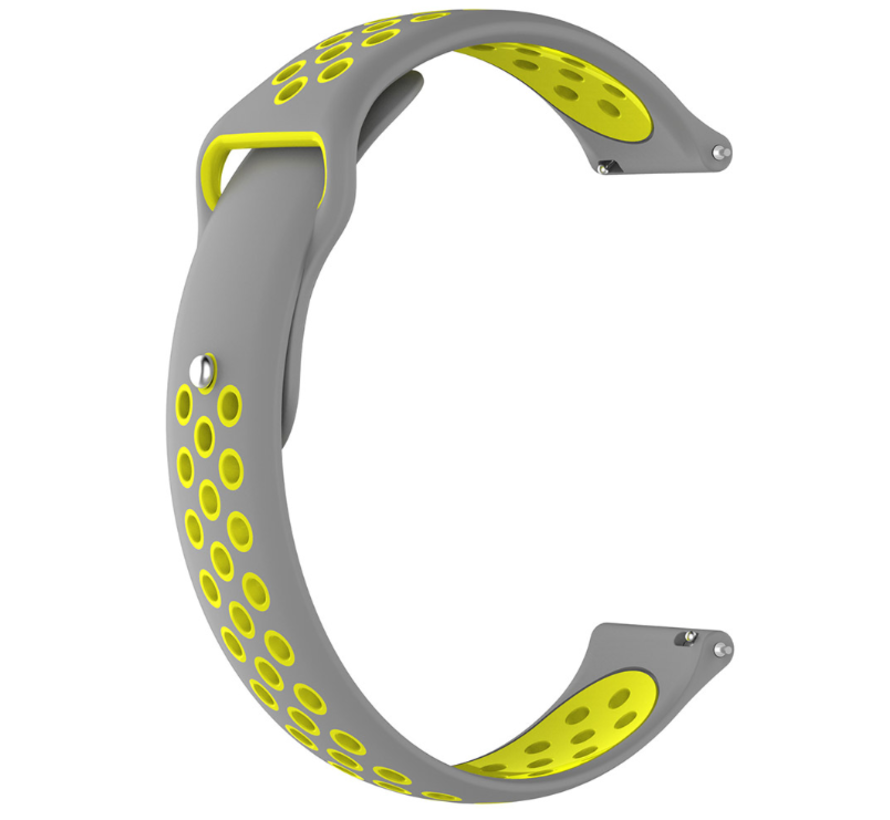 Strap-it® Garmin Vivoactive 3 sport band (grijs geel)