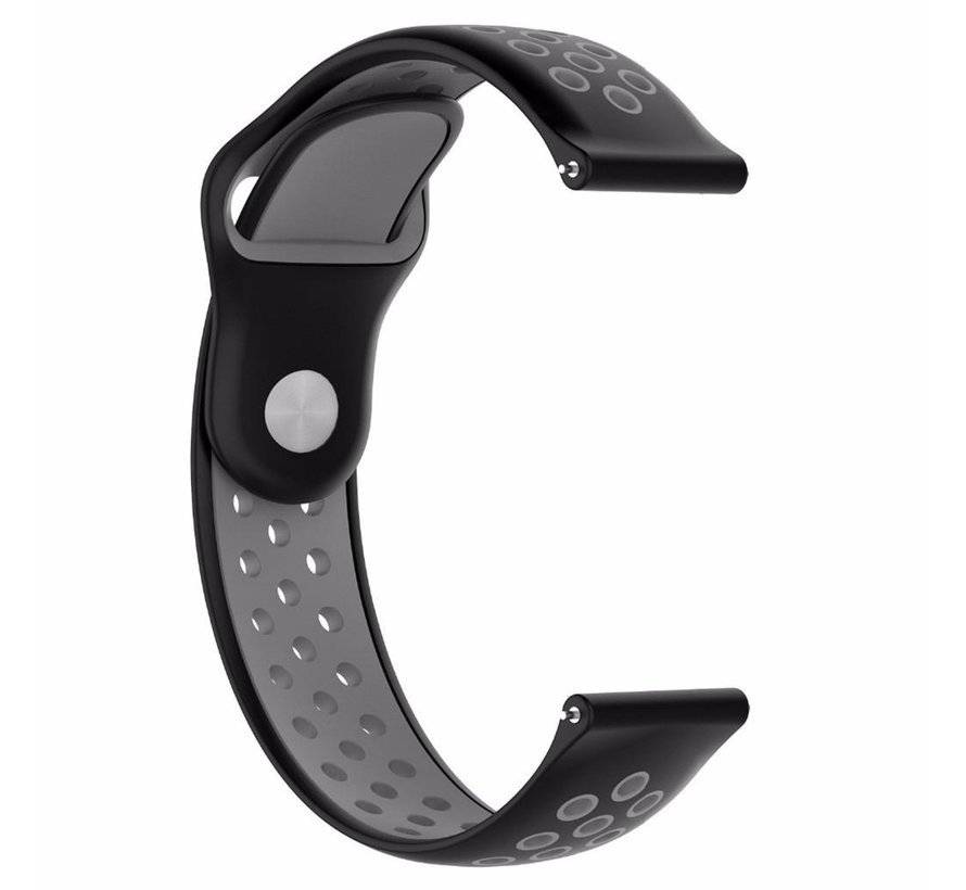 Strap-it® Huawei Watch GT sport band (zwart/grijs)